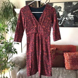 PATAGONIA Floral Print Organic Cotton Dress